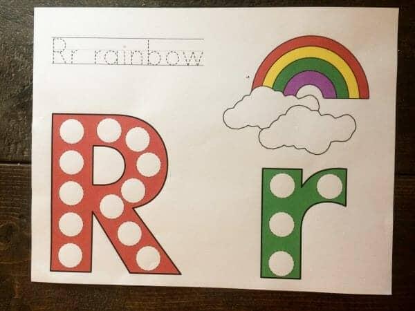 Rainbow Do-A-Dot Sheet | Faithful Farmwife