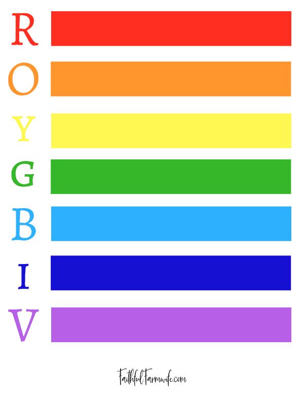 FREE Rainbow Printable | Faithful Farmwife
