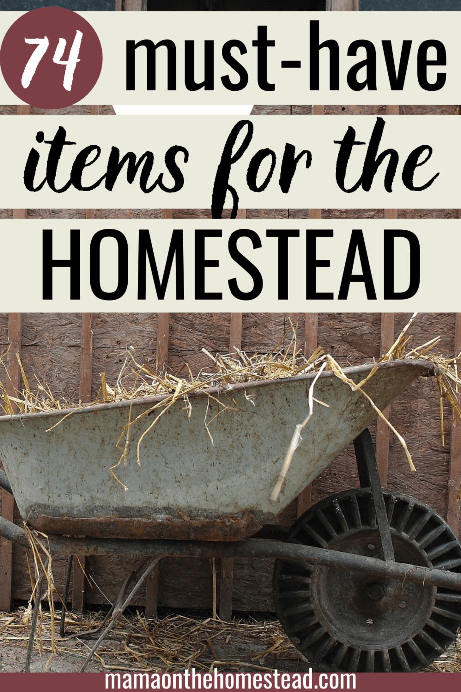 Homestead Essentials Pinterest Image