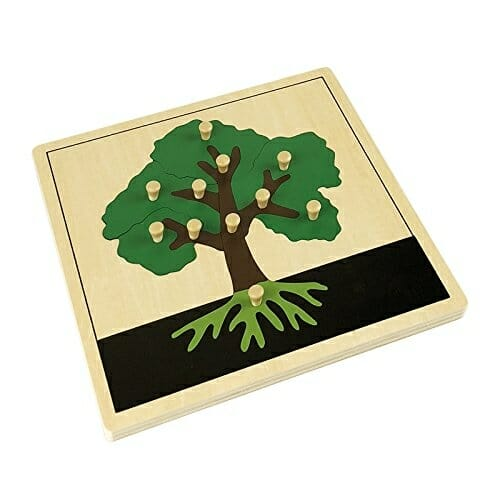Tree Puzzle |. 40+ Fall Montessori Activities, Crafts, Toys, & More | Faithful Farmwife