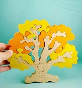 Autumn Tree Puzzle | 40+ Fall Montessori Activities, Crafts, Toys, & More | Faithful Farmwife