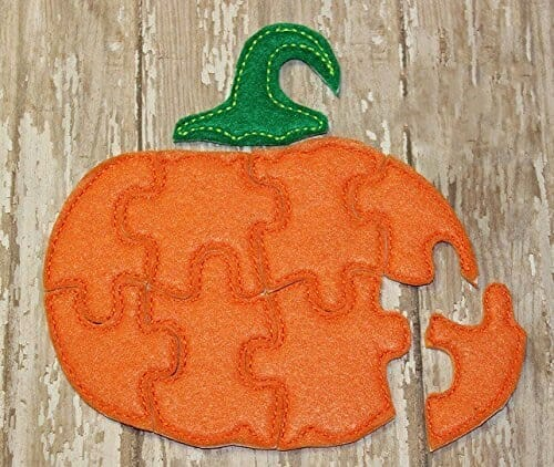 Felt Pumpkin Jigsaw Puzzle | Faithful Farmwife