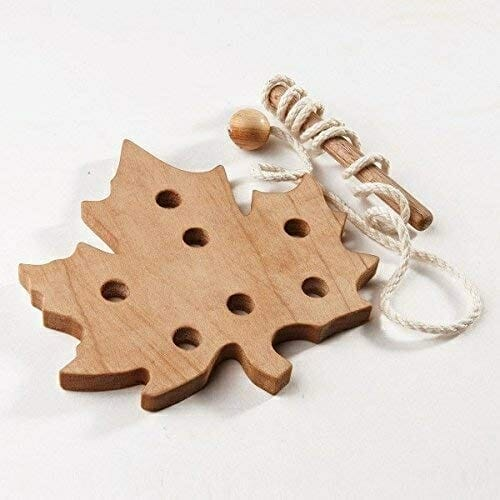Maple Leaf Lacing Toy | Faithful Farmwife