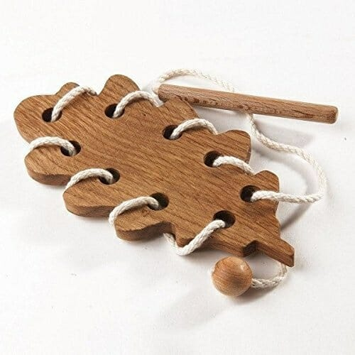 Oak leaf Lacing Toy | Faithful Farmwife