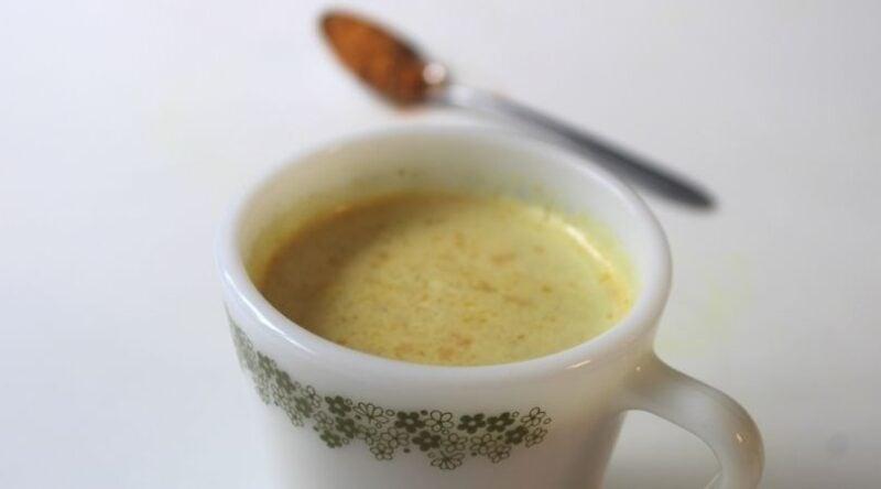 Image of creamy turmeric sore throat tea   Mama on the Homestead