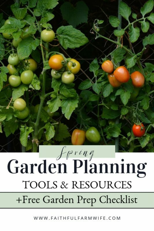Springtime = Garden Time! Take a look through this Spring Garden Planning list for my favorite reputable seed companies, online gardening courses, spring garden supplies, as well as additional Spring garden planning resources & tools. #SpringGarden #GardenPlanning #GardenResources #GardenTools #Gardening