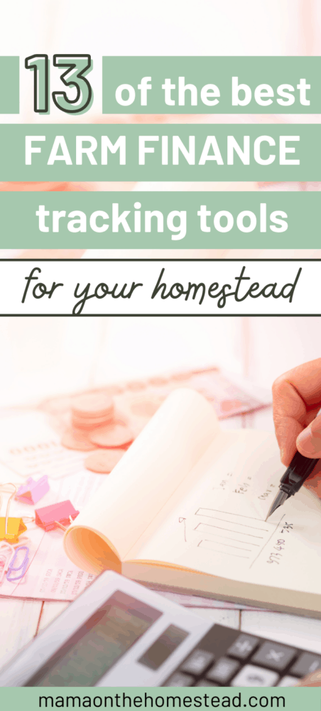 13 of the best farm finance tracking tools for your homestead pin