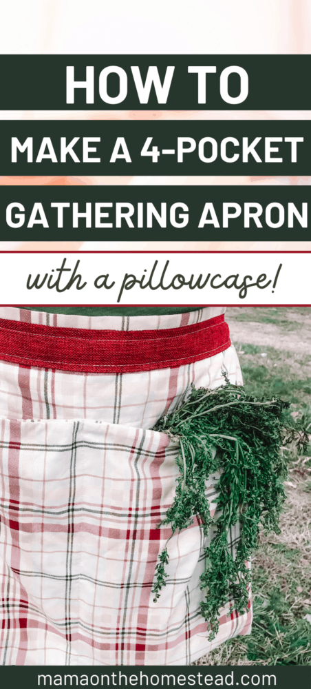 How to make a 4-pocket gathering apron with a pillowcase Pin