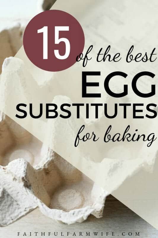 Do have an egg-free diet? Do you cook on a whim & often find yourself missing an ingredient or two when baking? If so, you need this egg substitutions list! #eggsubstitutions #eggsubstitutes #eggalternative #baking #bakinghack #fromscratch