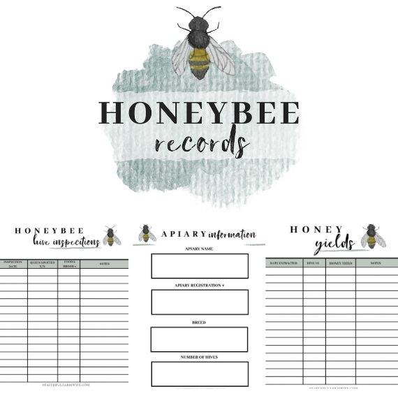 The Honeybee Record Book | Mama on the Homestead