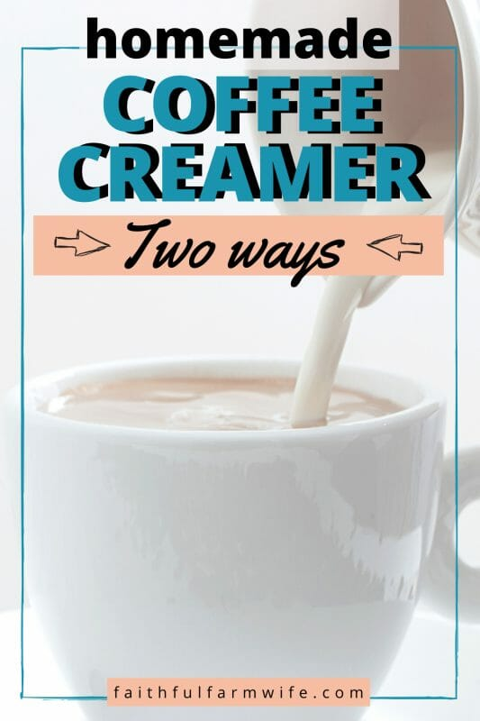 Whether you are a multiple-cups-a-day coffee lover OR a one-cup-a-week coffee drinker, this post has a homemade coffee creamer recipe perfect for you! #homemade #coffeecreamer #fromscratch #healthycoffee