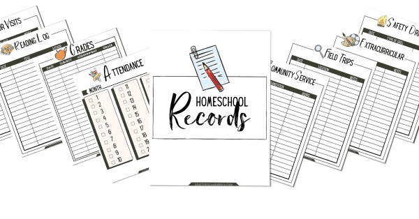 The Simplified Homeschool Planner | Homeschool Records