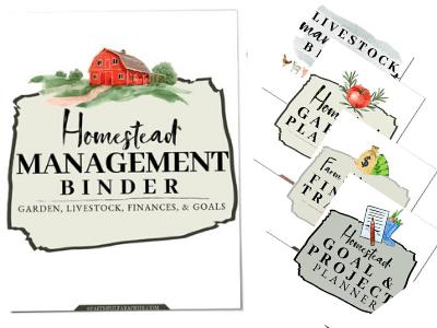 The Homestead Management Binder | Winter Homestead Essentials | Faithful Farmwife
