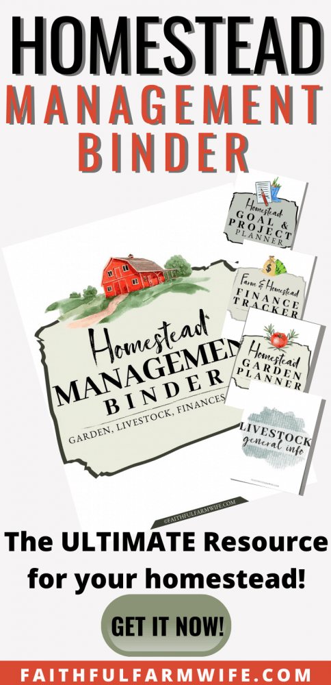 The Homestead Management Binder | Faithful Farmwife