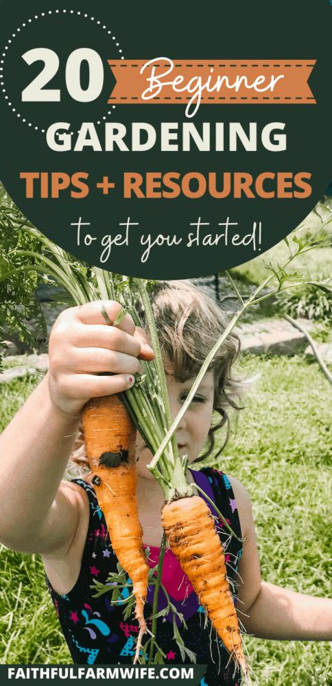 20+ Helpful Beginner Gardening Tips & Resources | Faithful Farmwife