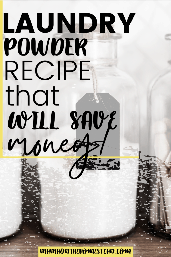 Laundry Powder Recipes that Will Save Money Pin