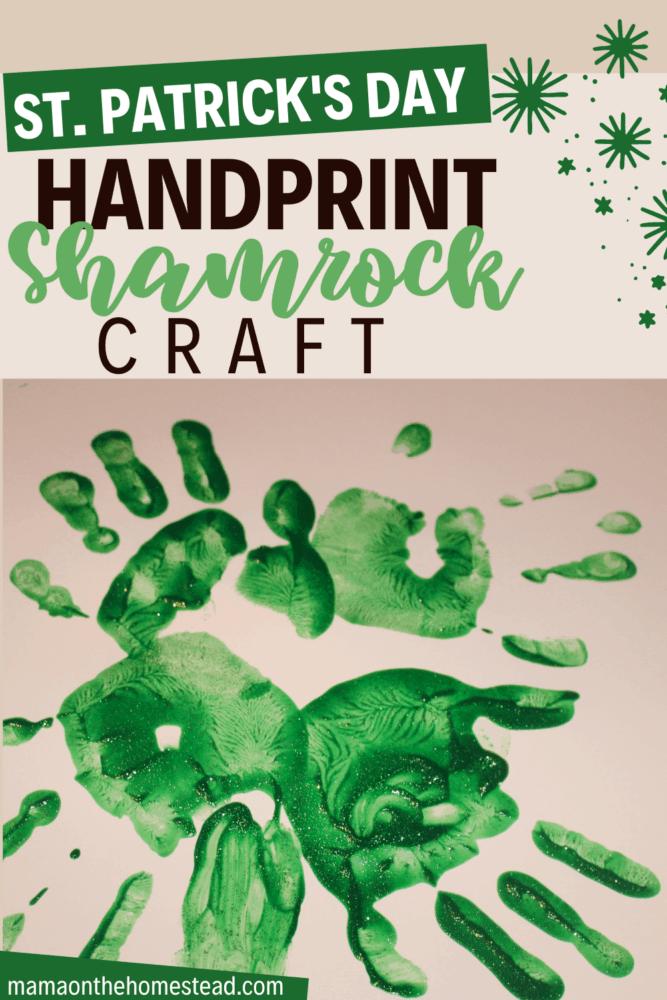St. Patrick's Day Handprint Shamrock Craft Pin