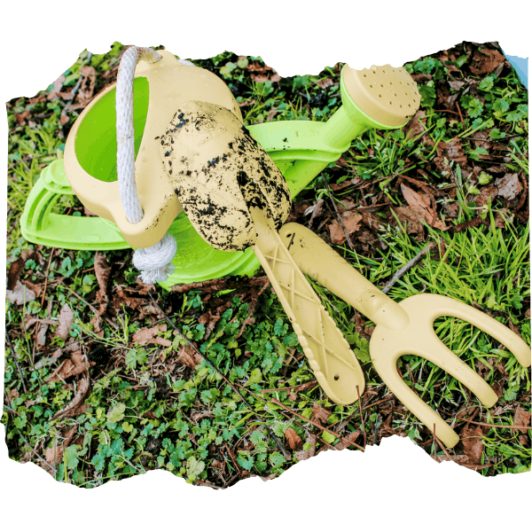 Green Toys Garden Tools | Tips for Gardening with Kids | Mama on the Homestead