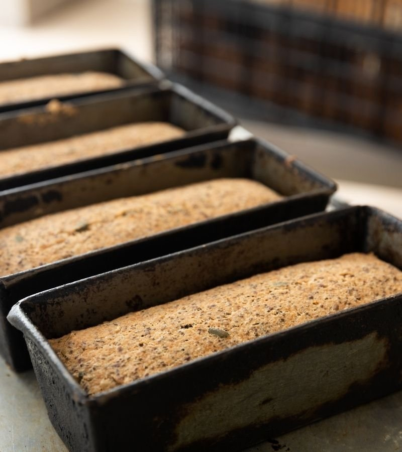 Loaf Pans with Bread | Mama on the Homestead