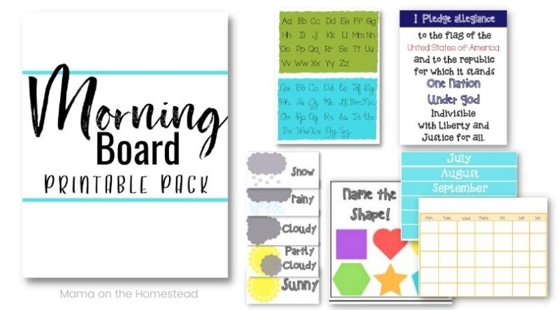 The Morning Board Printable Pack Preview Images   Mama on the Homestead